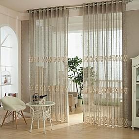 ราคาถูก ผ้าม่าน-เกี่ยวกับยุโรป เฉดสีผ้าม่านเชียร์ หนึ่งช่อง ห้องนั่งเล่น   Curtains / Bedroom
