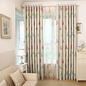 cheap Home Improvement-Country Blackout Curtains Drapes One Panel Kids Room   Curtains / Living Room