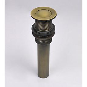 baratos Acessórios de Torneira-Acessório Faucet - Qualidade superior - Vintage Latão Pop-up Water Drain Without Overflow - Terminar - Latão Antiquado
