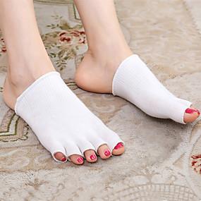 baratos Capas para Sapatos-Secagem Rápida Protetor de Sapatos Gel Peito do Pé Todas as Estações Unisexo Bege