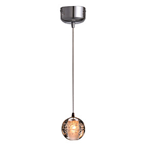 billige Hengelamper-Globe Anheng Lys Nedlys Gylden Krystall Krystall, Mini Stil, LED 110-120V / 220-240V LED lyskilde inkludert / Integrert LED