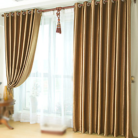 "cheap Curtains & Drapes-Custom Made Blackout Blackout Curtains Drapes Two Panels 2*(50W×84""L) / Embossed / Bedroom"