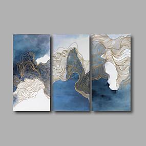 povoljno Trends-Print Stretched Canvas Prints - Sažetak Moderna Tri plohe Umjetničke grafike
