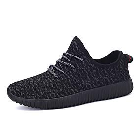 baratos Tênis Masculino-Homens sapatos Linho Primavera / Outono Conforto / Solados com Luzes Corrida Cinzento / Azul / Vermelho