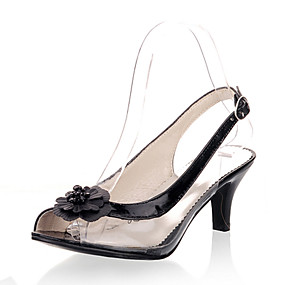 fd97e248b9ec Women s Shoes Customized Materials   Leatherette Summer Sandals Kitten Heel  Peep Toe Buckle   Flower Gold   Black   Silver   Party   Evening   Party    ...