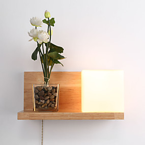 cheap Wall Lights-Ecolight™ Country Wall Lamps & Sconces For Wood / Bamboo Wall Light 110-120V 220-240V 60W