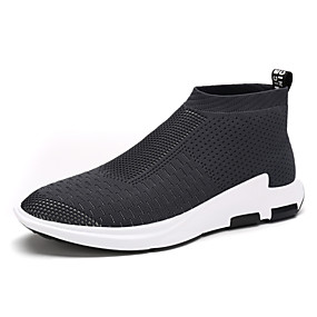 baratos Tênis Masculino-Homens Sapatos Confortáveis Tricô Primavera / Verão / Outono Tênis Caminhada Preto / Cinzento / Vermelho / Ao ar livre / Solas Claras