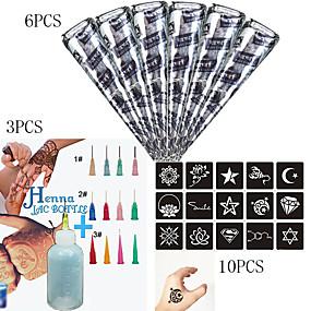 povoljno Privremene boje-1 pcs Kana boje Privremene tetovaže Vodootporno Body Arts Lice / ruke / ruka