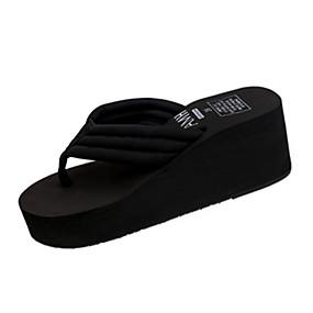 2d6efb792f39d Women s Wedge Heel Flip-Flops PU(Polyurethane) Summer Slippers   Flip-Flops  Flat Heel Round Toe Gore Beige   Blue   Pink   EU39