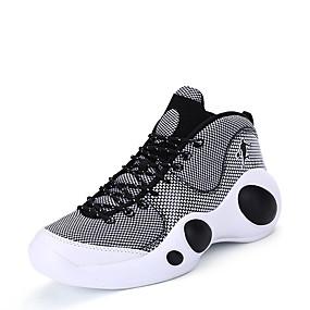 baratos Sapatos Esportivos Masculinos-Homens Sapatos Confortáveis Linho Primavera / Outono Tênis Basquete Preto / Vermelho / Atlético / Combinação