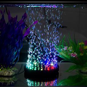 billiga Tillbehör till fiskar och akvarium-Akvarium LED-belysning Multifärgad Energisparande Ljudlös LED-lampa 220V