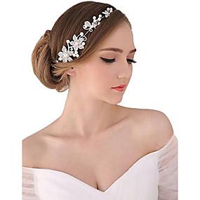baratos Tiaras-Pérola / Cristal / Tecido Tiaras / Headbands / Flores com 1 Casamento / Ocasião Especial / Festa / Noite Capacete / Liga