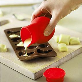 levne Formy na dorty-Silikon Šetrný vůči životnímu prostředí Udělej si sám Dorty Cupcake Čokoládová Měření šálků a lžíce Nástroje na pečení