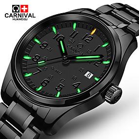 Carnival Pánské Náramkové hodinky Křemenný Nerez Černá 30 m Hodinky na  běžné nošení Analogové Luxus Módní - Černá 83077acf286