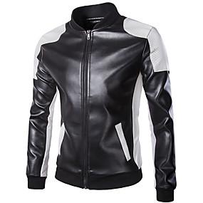 ราคาถูก ข้อเสนอพิเศษ-18LBY6FH เสื้อผ้ารถจักรยานยนต์ เสื้อแจ็คเก็ต สำหรับ หนัง PU ทุกฤดู ป้องกับลม
