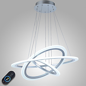 abordables Candelabros-Lámparas Colgantes Luz Ambiente Otros Metal Acrílico Regulable, LED, Regulable con control remoto 110-120V / 220-240V Fuente de luz LED incluida / LED Integrado