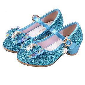 abordables Chaussures pour Fille-Fille Chaussures Polyuréthane Printemps été Escarpin Basique Chaussures à Talons Cristal / Noeud pour Argent / Bleu