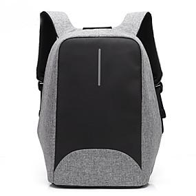"""ieftine -0.1-Coolbell 15 """"laptop Rucsaci Nailon Afacere / Culoare solidă pentru biroul de afaceri pentru calatorie Unisex cu port USB de încărcare / gaură pentru căști"""