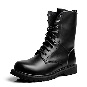 baratos Botas Masculinas-Homens Sapatos Confortáveis Pele Outono / Inverno Botas Preto / Festas & Noite / Festas & Noite / Ao ar livre / Escritório e Carreira / Fashion Boots