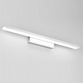 cheap Wall Lights-61cm Modern 24W LED Mirror Lamp Bathroom Lights 85-265V Aluminum Materials And Acrylic Wall Lights Make-Up Lighting Vanity Light