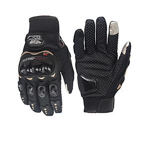 povoljno Automoto-pro-biker unisex karbonska vlakna motocikl rukavica biciklizam utrke rukavice motocikl puni prst ne-skliznuti rukavice \ t
