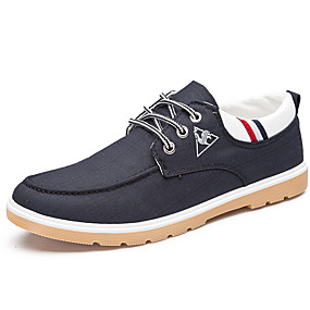 cheap Men's Sneakers-Men's Denim Spring / Fall Casual / Comfort Sneakers Walking Shoes Gray / Blue / Light Blue