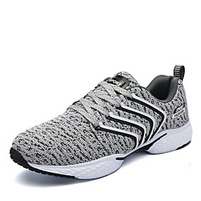cheap Running Shoes-Men's Cotton Spring / Fall Comfort Athletic Shoes Running Shoes Black / Gray / Blue