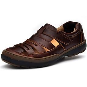 baratos Sandálias Masculinas-Homens Sapatos Confortáveis Pele Verão / Outono Sandálias Água Preto / Marron / Casual / Ao ar livre / EU40
