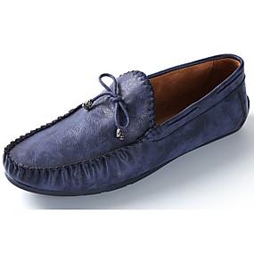 baratos Sapatos Náuticos Masculinos-Homens Mocassim Couro Ecológico Primavera / Outono Mocassins e Slip-Ons Marron / Azul