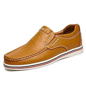 ieftine Pantofi bărbați-Bărbați Comfort Loafers Piele Vară / Toamnă Mocasini & Balerini Negru / Albastru Închis / Maro