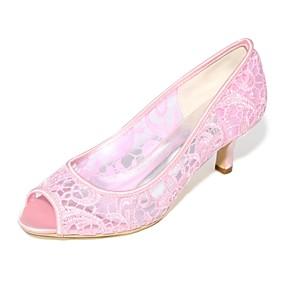 voordelige Wijdere maten schoenen-Dames bruiloft Schoenen Naaldhak Peep Toe Tricot Basispump Lente / Zomer Zwart / Wit / Kristal / Bruiloft / Feesten & Uitgaan / EU40