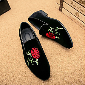 baratos Sapatilhas e Mocassins Masculinos-Homens Sapatos Confortáveis Camurça Primavera / Outono Temática Asiática Mocassins e Slip-Ons Preto / EU42