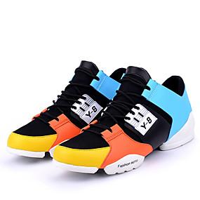 cheap Men's Athletic Shoes-Men's Mesh Spring / Fall Novelty Athletic Shoes Running Shoes White / Black / Orange / Split Joint
