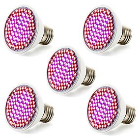 billige LED Økende Lamper-5pcs 4.5 W 3.5 W Voksende lyspære 800-850LM E26 / E27 106 LED perler SMD 2835 Rød Blå 100-240 V 85-265 V / RoHs / FCC