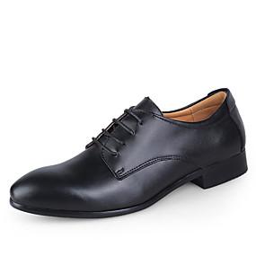 voordelige Wijdere maten schoenen-Heren Jurk schoenen Leer Lente / Herfst Zakelijk bruiloft Schoenen Zwart / Wit / Blauw / Bruiloft / Veters / EU40