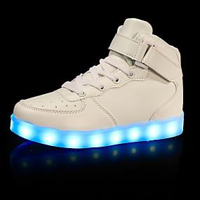 povoljno Dječje cipele-Dječaci Umjetna koža Sneakers Mala djeca (4-7s) / Velika djeca (7 godina +) Udobne cipele / Svjetleće tenisice Hodanje Kopčanje na kukicu / LED Crn / Pink / Crvena Jesen / Zima / Guma / EU39