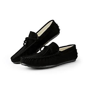 baratos Sapatos Náuticos Masculinos-Homens Sapatos de Condução Camurça Primavera / Outono Mocassins e Slip-Ons Preto / Verde / Amarelo / Laço / EU40