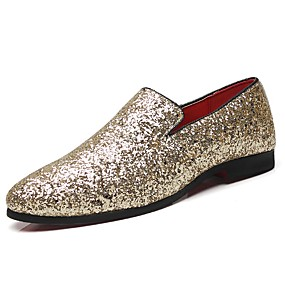 633d43e0ce56 Men's Formal Shoes Patent Leather Fall / Winter Loafers & Slip-Ons Gold /  Black / Silver / Party & Evening / Party & Evening