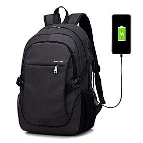 cheap Featured Deals-Men's Bags Oxford Cloth School Bag Zipper Dark Blue / Gray / Purple
