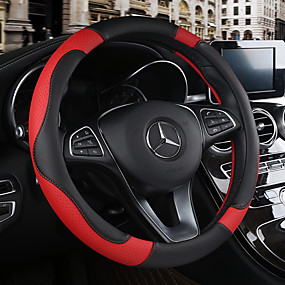 cheap -30%-Steering Wheel Covers Leather 38cm Beige / Black / Brown / Black / Red For Chevrole All years