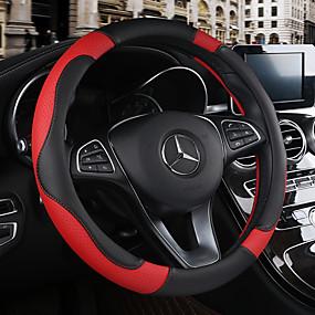 abordables Accessoires Intérieur de Voiture-Protège Volant Cuir 38cm Beige / Noir / Brun / Noir / Rouge Pour Chevrole Toutes les Années