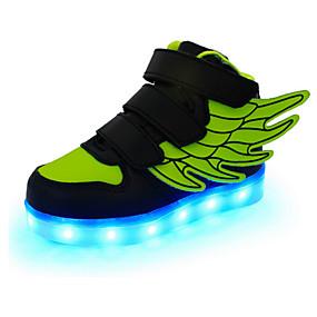 povoljno LED Cipele-Dječaci Koža Sneakers Mala djeca (4-7s) / Velika djeca (7 godina +) Udobne cipele / Inovativne cipele / Svjetleće tenisice Mat selotejp / LED Crvena / Zelen / Plava Proljeće / Jesen / Guma