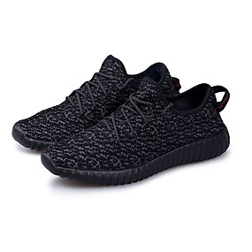 newest bef06 275e2 Yeezy Style Men s yeezy shoes PU(Polyurethane) Spring   Fall Comfort  Athletic Shoes Walking Shoes Black   Green   Black   White
