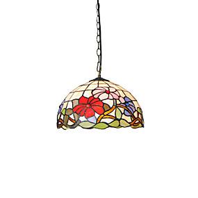 billige Tiffany Lamper-diameter 30cm tiffany anheng lys glass lampe skygge stue soverom spisestue barn rom lysarmatur