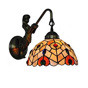 billige Tiffany Lamper-diameter 20cm retro havfrue tiffany vegg lys skall skall skygge stue soverom lysarmatur