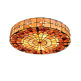 cheap On Sale Discount-Diameter 50cm Tiffany Ceiling Light Shell Shade Living Room Bedroom Dining Room Flush Mount