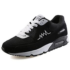 cheap Men's Athletic Shoes-Men's PU(Polyurethane) Spring / Fall Comfort Athletic Shoes Walking Shoes Black / Gray / Black / White