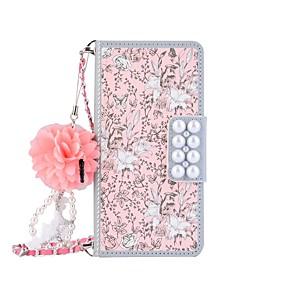 billige Mobilcovers-Etui Til Samsung Galaxy S8 Plus / S8 / S7 edge Pung / Kortholder / Med stativ Fuldt etui Blomst Hårdt PU Læder