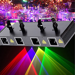 cheap Musical Instruments-U'King Laser Stage Light 7 DMX 512 Master-Slave Sound-Activated Auto Remote Control 30 for Club Wedding Stage Party Outdoor Professional