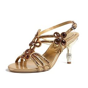 Γυναικεία Παπούτσια Δερματίνη Άνοιξη   Καλοκαίρι Μοντέρνες μπότες Σανδάλια  Ανοικτή μύτη Τεχνητό διαμάντι   Κρυσταλλάκια   Αστραφτερό fc564b6c799